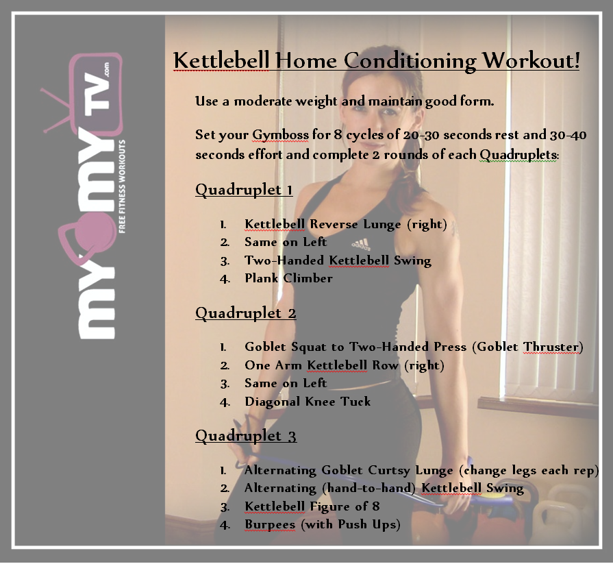 New Kettlebell Exercises For Your Workout Routine: Kettlebell Home Conditioning Workout Routine