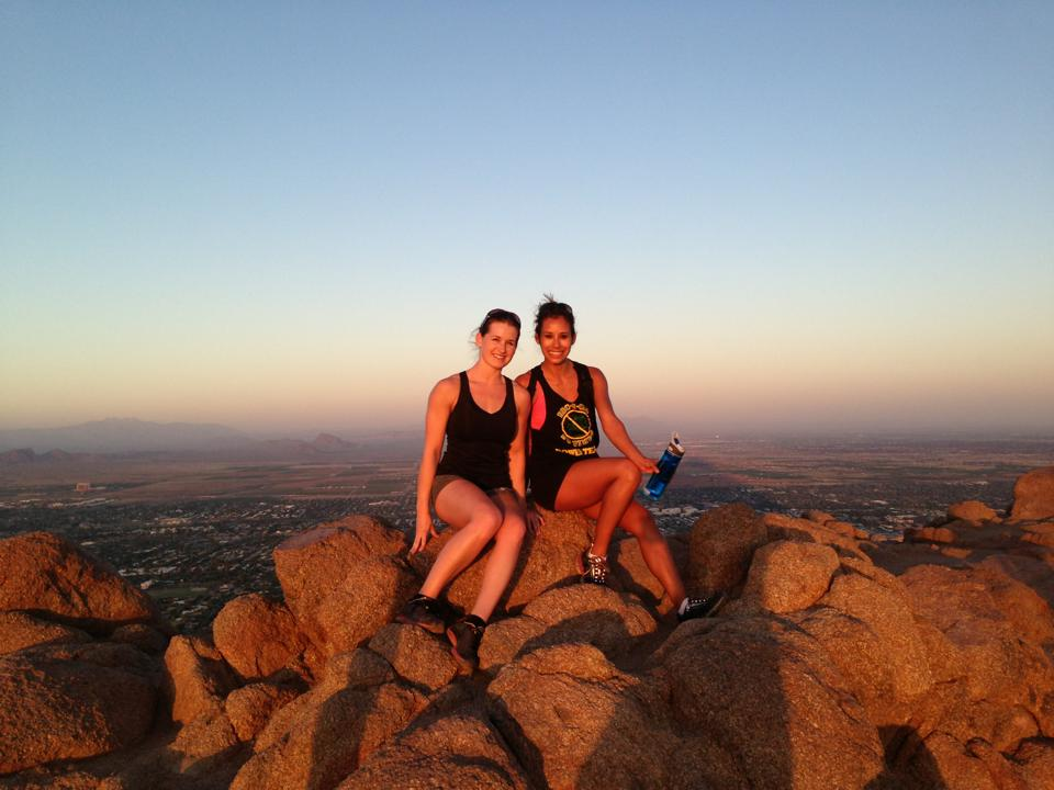 Diana and I at the top of Camelback Mountain in Phoenix.